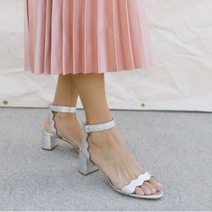 Loeffler Randall Emi Block Heel Sandal silver - 7